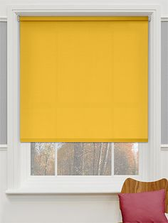 A discreet yellow blind to go behind the curtains and produce a warm sunny feel to wake up to on even the dullest morning.  Valencia Neon Yellow Roller Blind from Blinds 2go