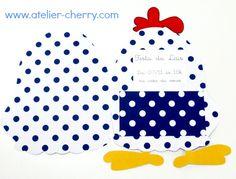 ATELIER CHERRY: Convite da Galinha pintadinha