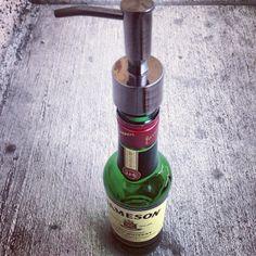 Jameson whiskey bottle soap dispenser by BleeksCreations on Etsy, $34.00...... I WANT IT