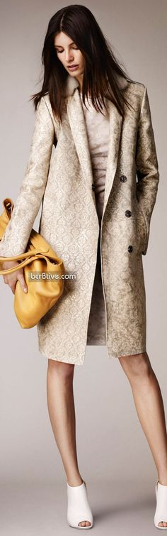 Burberry Prorsum Pre Spring 2014 Collection. For a more Lady Like look, I'll change the boots for high heels & the bag for a clutch.