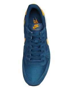 nike internationalist blauw geel