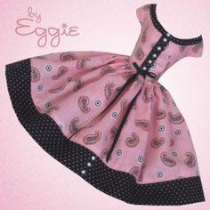 Paisley Please - Vintage Barbie Doll Dress Reproduction Barbie Clothes