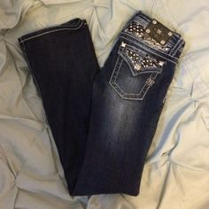 Girls Miss Me Jeans Girls Miss Me jeans/ size 14/ worn a couple times, basically brand new!/ dark wash Miss Me Jeans Boot Cut