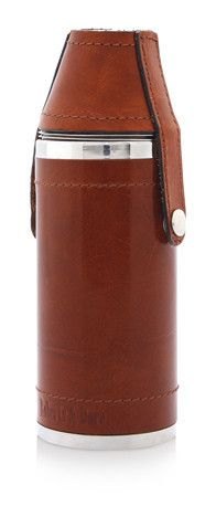 Heritage Leather Hunting Flask & Cups