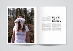 White Blackout Magazine Editorial Design