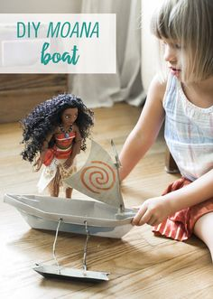 Moana, Disney's newest heroine, is an adventurous teenage girl who sets sail on a brave mission to save her people. And her doll comes in easy-to-open packaging made from 70% recycled materials that can be transformed into its own toy. A DIY Moana Boat, to be exact. It's a great kids craft, just grab some tape and you're ready to build it with your little one!