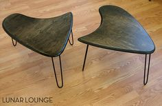 Booma End  Coffee table set  Mid Century by lunarloungedesign, $350.00