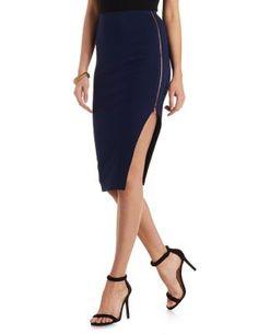 Asymmetrical Cut Out Pencil Skirt #CharlotteLook #OnTrend