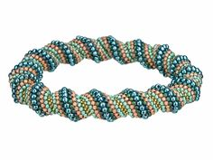 Sea Splash Cellini Bangle Bracelet Kit by Cynthia Kimura