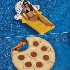 2 Piece Cookie Float and Ice Cream Dream Pool Float Inflatable Set