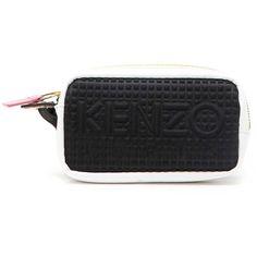 KENZO 'Kombo' mini pochette (550 SAR) ❤ liked on Polyvore featuring bags, handbags, clutches, kenzo handbags, mini handbags, kenzo, mini purse and mini pochette