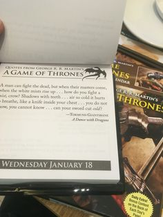365 days of GoT qoutes for the year 2017. #GoT #GRRMartin #Fullybooked