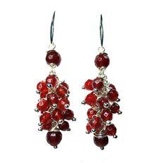 Earrings - Red Jade