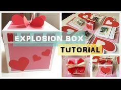 Explosion box / birthday box / diy / handmade / falling card - YouTube