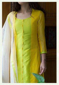 Lemon Yellow Designer kurta For office wear.. get it at http://mytailor.in/