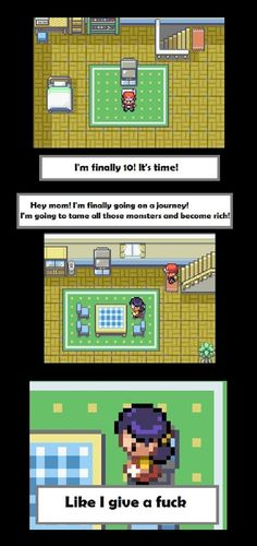 She simply doesn't give a fuck... Probably cuz she sleeps in the kitchen!(^ω^) #Pokemon #Funny