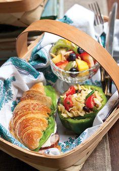 Croissant Sandwiches with Orange-Tarragon Spread