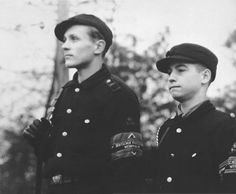 Members of the Hitler Youth who were conscripted to the Volkssturm in the defense of Berlin - april 1945