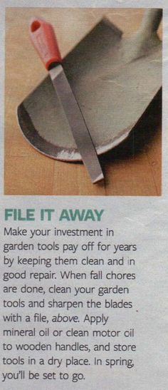 garden tool maintenance - if you don't take care of them, they can't take care of your garden...