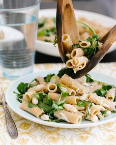 Lemon and Arugula Rigatoni - This sounds like a simple and healthy dinner idea