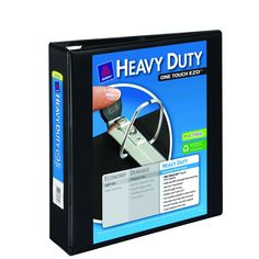 Heavy Duty 2 inch Black View Binder with One Touch EZDTM Ring - $6.99 (free shipping with PRIME)