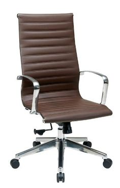 OSP Furniture High-Back  Eco Leather Chair, Chocolate OSP Furniture
