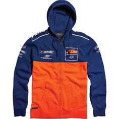 Fox Racing KTM Replica Zip-Up Hooded Sweatshirt