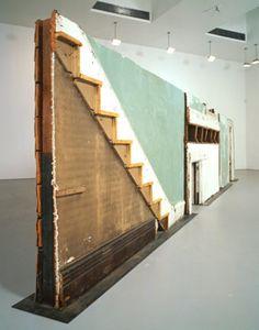 Gordon Matta Clark, Bingo. 1974, Building fragments: painted wood, metal, plaster, and glass