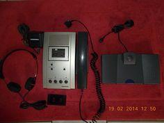 GRUNDIG St 3210 Stenorette mit Netzteil,Kopfhörer+Fußschalter,geprüft 100%OK,TOP