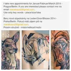 #mariekraus #tattoo #femaletattooartist #berlin #prague #gorilla #fawn #rhino #nevadajohnny #bobektattoo #ourfuturetattoo