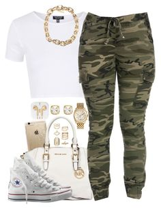 """""""III ♡ III ♡ MMXVI"""" by justice-ellis ❤ liked on Polyvore featuring Rifle Paper Co, MICHAEL Michael Kors, Topshop, Juicy Couture, Converse, Michael Kors, Givenchy and Accessorize"""
