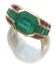 Emerald and ruby ring, Hemmerele