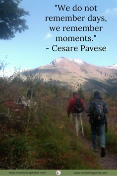 """""""We do not remember days, we remember moments.""""   - Cesare Pavese   #MDI"""