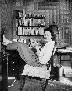 Anne Sexton in her study.
