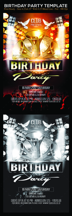 Party Flyer Template  Party Flyer Flyer Template And Template