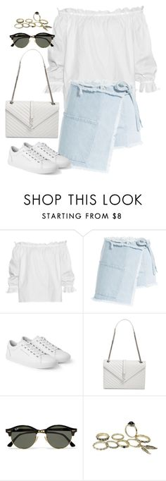 """""""Untitled#4364"""" by fashionnfacts ❤ liked on Polyvore featuring Isolda, Sandy Liang, Dolce&Gabbana, Yves Saint Laurent and Ray-Ban"""