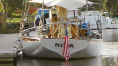 In this undated photo the yacht Nina is shown docked at a unidentified location. Searchers said Thursday, June 27, 2013, that they have grave concerns for seven souls aboard the American schooner, that has been missing for three weeks between New Zealand and Australia.