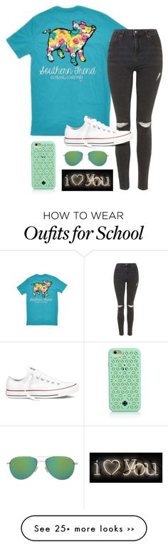"""""""school tomorrow"""" by ameliahinton on Polyvore featuring Topshop, Converse, Tory Burch, Oliver Peoples and Seletti"""