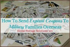 how to send expired coupons to miliary families overseas