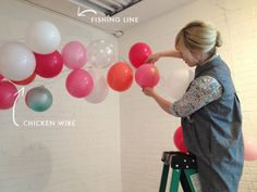 balloon arch tutorial: Use a PUMP never go back to blowing it up with my own… Balloon Arch Diy, Ballon Arch, Deco Ballon, Balloon Backdrop, Balloon Columns, Balloon Garland, Balloon Decorations Without Helium, Diy Garland, Small Balloons