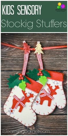 Sensory Stocking Stuffers for Kids Christmas Stockings | ilslearningcorner.com #christmas