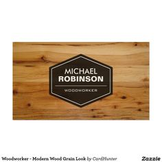Woodworker - Modern Wood Grain Look Pack Of Standard Business Cards