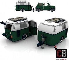 Custom LEGO MINI Cooper Caravan