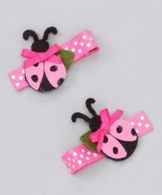 Pink Ladybug Clip by marian