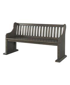 Dark Ash Stanford Pew Bench by Picket House Furniture #zulily #zulilyfinds