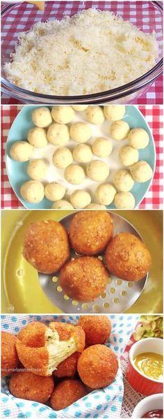 Bolinhas de Queijo ( VERSAO RAPIDA ) #bolinhasdequeijo #queijo #massas