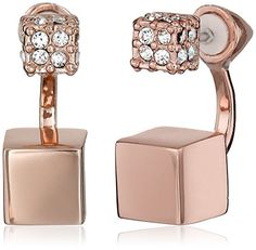 Vince Camuto Rose Gold Stud Earrings - http://www.womansindex.com/vince-camuto-rose-gold-stud-earrings/