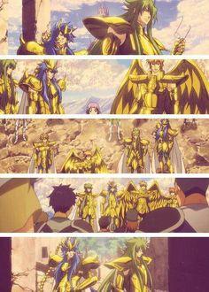 Collage The Lost Canvas - OAV 25 Otaku Anime, Manga Anime, Aquarius And Scorpio, Blue Exorcist, Knight, Chibi, Saints, Collage, Fan Art