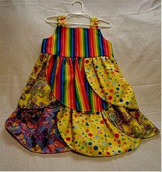 Girl's Dress Girl's Petal DressMulti Colors Dress by SewPersonnal, $38.00
