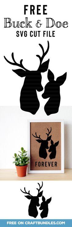 Free Buck and Doe SVG cut files - Plotten - Vinyl Crafts, Vinyl Projects, Cervo Tattoo, 3d Zeichenstift, Silhouette Cameo Projects, Silhouette Cameo Vinyl, Cricut Creations, Cricut Vinyl, Vinyl Designs